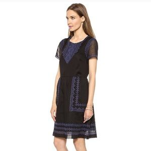 Madewell embroidered dress size 4
